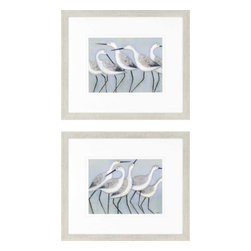 Paragon - Shore Birds PK/2 - Framed Art - Each product is custom made upon order so there might be small variations from the picture displayed. No two pieces are exactly alike.