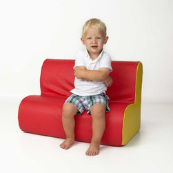Foamnasium - Foamnasium Cloud Sofa - 1061 - Shop for Childrens Sofas from Hayneedle.com! If your child needs a seat to call his own get him the Foamnasium Cloud Sofa. This brightly-colored sofa is made of durable polyurethane foam that is sturdy flame-retardant and odor-free. It also contains an antimicrobial additive that prevents the growth of bacteria and mold even if the sofa gets wet. The easy-to-clean vinyl exterior is available in three bold color combinations. Designed for kids aged 1-5 this comfortable sofa is big enough for your toddler to stretch out alone or sit up straight and share his seat with a friend. Meets US flammability standards.About FoamnasiumOffering a wide variety of products for daycare home playrooms schools and more Foamnasium is all about kids having fun. Foamnasium is a high-quality brand of polyurethane foam products for commercial use. After 60 years of development this product is guaranteed to be soft durable colorful environmentally unique and fun. If you can't find exactly what you need Foamnasium can even create a product in virtually any shape you want.