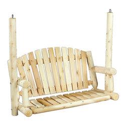 "Rustic Natural Cedar - Rustic Natural Cedar 070027A Amer. Garden Swing Seat - - Height: 42.5"""