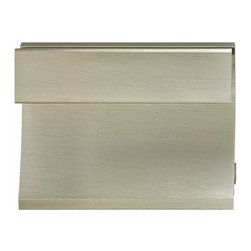 Hafele - Hafele: Flush Handle: Aluminum: Stainless Steel Colored: 972 X 49mm - Hafele: Flush Handle: Aluminum: Stainless Steel Colored: 972 X 49mm