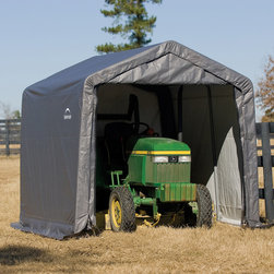 None - ShelterLogic Shed and Storage Series 10' x 10' x 8' Shed-in-a-Box - This shed in a box is designed for easy set-up,portability and value. Built with a high grade steel,every frame tube and connector goes through a proprietary 13-step Rhino Shield surface preparation process.