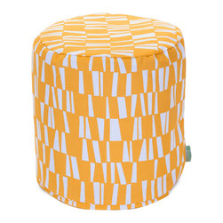 Majestic Home - Outdoor Citrus Sticks Small Pouf - A little pouf can go a long way in your home, serving in a pinch as a footrest, stool or impromptu side table. This cute and casual beanbag pouf is designed to be adaptable to your life; it's soft and easy to move around wherever it's needed, and the cover can be removed for cleaning up spills and smudges. It has a fresh, modern print to add some color to your space, and it's even safe for outdoor use.