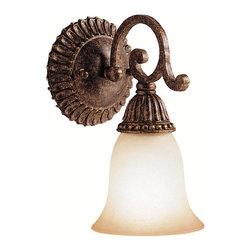 kichler - Kichler Lighting Larissa 1 Light Wall Sconce in Tannery Bronze w/ Gold 5214tzg - Kichler Lighting Larissa 1 Light Wall Sconce in Tannery Bronze w/ Gold Accent 5214TZG
