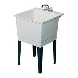 Swanstone - Swanstone Polypropylene Laundry Tub, White (PT-1.010) - Swanstone PT-1 Polypropylene Laundry Tub, White