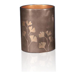 Belle & June - Ginko Waste Basket - When everyday items have true beauty, your life becomes even more exceptional. Case in point, this lacquered wastebasket. Handmade by an age-old layering technique, it brings exotic elegance to your personal space.