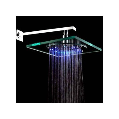Chrome Brass Round LED Rainfall Shower Head & Faucets - Highlights :