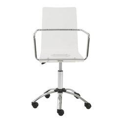 Euro Style - Euro Style Chloe Office Chair X-RLC34908 - Finish: Clear/Chrome.