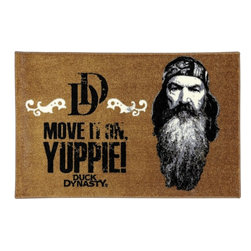 """Mohawk Home - Duck Dynasty Phil Yuppie Brown Novelty 2'6"""" x 3'10"""" Mohawk Rug (11873) - Licensed and inspired by America's favorite reality series, these easy to care for rugs are conversation starters. The vivid details of the famous family are captured perfectly, as are their infamous quotes. Non-Skid Backing"""