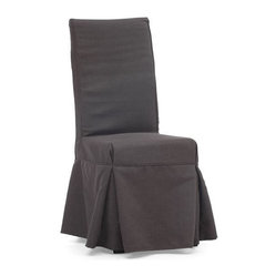 Zuomod - Dog Patch Charcoal Dining Chair - Invite your loved ones to slip into something comfortable — not to mention stylish — at every meal. A sturdy wooden base and molded foam are lavishly draped in simply elegant linen for a look of casual refinement.