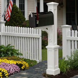 Newport Plus Mailbox Post - The Newport Plus Mailbox Post resembles a traditional wood post but is made of polyethylene, a low maintenance material. Pair with your choice of mailbox to create a unique look.