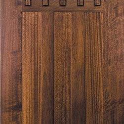 Slab Entry Single Door 80 Mahogany Craftsman 3 Panel 6
