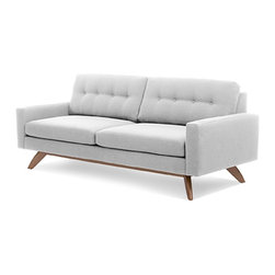 True Modern - TrueModern Luna Sofa - Calvin Ivory - Retro style and modern lines combine for this truly Jetsons-style sofa. And you'll feel like you're hovering in space when you sit down on this comfortable and classic number by Edgar Blazona.