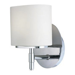 Hudson Valley Lighting - Trinity Vanity Wall Sconce - Trinity vanity wall sconce features an opal/matte glass shade. Finsh available in polished chrome and satin nickel. Available in 1, 2, 3 and 4 light version. Fixture can only be used as an uplight. One 75 watt, 120 volt, JCD Type G9 base xenon lamp included. General light distribution. cUL listed. Backplate dimensions are 4.75W x 5.5H. 5.25W x 8H x 4.75 inch depth.