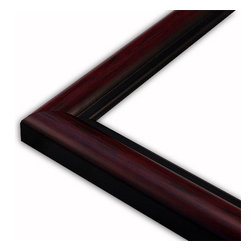 The Frame Guys - Round Mahogany with Black Lip Picture Frame-Solid Wood, 12x18 - *Round Mahogany with Black Lip Picture Frame-Solid Wood, 12x18