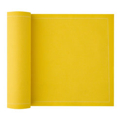 Cotton Luncheon Napkin, Lemon Yellow