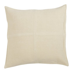 Libeco - Albany Pillow Cover, choice of nine colors, Bone - The classic Albany Pillow Cover is available in Bone, Flax, Caffenoir, Rust. Celadon, Topaz, Vison, Wheat and White.