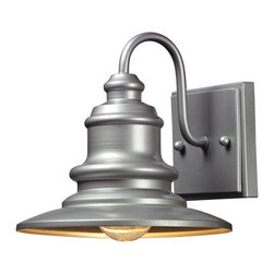ELK - ELK 47020/1 Outdoor Wall Sconce - The Marina Collection Features A Charming Nautical Appeal That Will Illuminate Your Outdoor Space With Distinctive Style.  Finished In Hazelnut Bronze Or Matte Silver.
