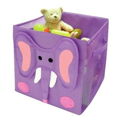 Elephant Storage Cube - It seems that kids accumulate toys at a supersonic rate, and cute storage is a must. I couldn't resist this adorable elephant cube. On the rare day when it's not in use, it folds flat!