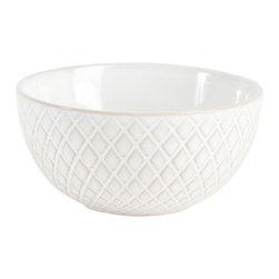 Saro - Crosshatch Stoneware Dessert Plate - Crosshatch Stoneware Dessert Plate