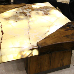 Lit Onyx Coffee Table - Custom Furniture by Architectural Justice