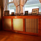 WickesWorks Products radiator covers. Clearbrook model stained. -