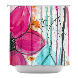 DiaNoche Designs - Shower Curtain Artistic - Home Grown II - DiaNoche Designs works with artists from around the world to bring unique, artistic products to decorate all aspects of your home.  Our designer Shower Curtains will be the talk of every guest to visit your bathroom!  Our Shower Curtains have Sewn reinforced holes for curtain rings, Shower Curtain Rings Not Included.  Dye Sublimation printing adheres the ink to the material for long life and durability. Machine Wash upon arrival for maximum softness. Made in USA.  Shower Curtain Rings Not Included.