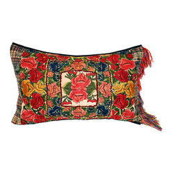 Vintage Guatemalan Embroidered Pillow