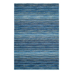 Safavieh - Platt Hand Loomed Rug, Blue / Multi 4' X 6' - Construction Method: Hand Loomed. Country of Origin: India. Care Instructions: Vacuum Regularly To Prevent Dust And Crumbs From Settling Into The Roots Of The Fibers. Avoid Direct And Continuous Exposure To Sunlight. Use Rug Protectors Under The Legs Of Heavy Furniture To Avoid Flattening Piles. Do Not Pull Loose Ends; Clip Them With Scissors To Remove. Turn Carpet Occasionally To Equalize Wear. Remove Spills Immediately. The casual allure of contemporary Tibetan carpets is recalled in Safavieh's rich and textural Himalaya Collection. Loomed by hand in India of 100 percent wool in a range of heathered solids, transitional stripes and subtle plaids, each rug in the collection.