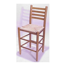 Dixie Seating - 24 in. Woven Seat Ladderback Barstool (Medium - Finish: Medium OakTaking its design cues from classic, farmhouse style pieces, this ladder back bar stool will bring a country inspired spirit to any decor. Perfect for casual dining or entertaining, the stool is made of solid ash in your choice of finishes and features a woven rush seat. Classic ladder back barstool. Made of solid ash hardwood. Rush seat. Made in the USA. Pictured in Medium Oak finish. No assembly required. Underside is unsanded. Seat height: 24 in.. 17.5 in. W x 14.5 in. D x 38 in. H