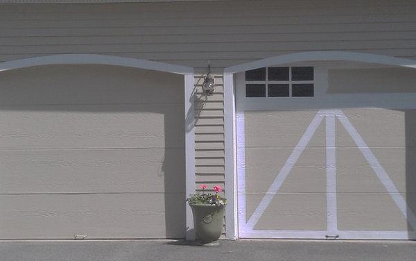Faux Painting Garage Doors