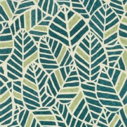 """Loloi - Loloi Tropez TZ-05 (Blue, Green) 7'6"""" x 9'6"""" Rug - Set the foundation for an island lifestyle with our Tropez Collection. Hand hooked in China of 100% polypropylene, Tropez features tropical inspired design with trending-now colors suited for outdoor living. Take a closer look (or zoom in), and you'll notice the use of mixed yarns that give Tropez a refined color blend. And like all of our indoor/outdoor rugs,Tropez is easy to clean and will withstand any rain or sunshine."""