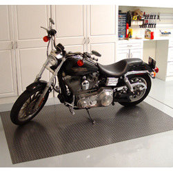 Auto Care Products, Inc. - Motorcycle Mat, 5' x 7.5', Metallic Silver - Features: