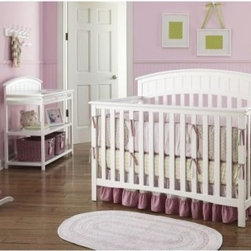 Graco Charleston 4-in-1 Convertible Classic Crib Collection - Buy the crib and changing table together and save! Modern in design and versatility the Graco Charleston 4-in-1 Convertible Classic Crib features gorgeous wainscoting detailing on the headboard for a charming traditional look. The height-adjustable mattress support can be gradually lowered in three increments to prevent your increasingly agile baby from climbing out. When your toddler is ready for his first real bed this crib converts to a toddler bed (no guard rail is needed) and then to a lovely day bed. Finally use the detailed back piece as a headboard on a full-size bed. Add the Graco Charleston Changing Table and all those frequent changes will become less of a chore. Gorgeous wainscoting detailing transforms this functional piece of furniture into an appealing one worthy of your little one. This table features a built-in safety strap and side rails for added security to keep your wiggly baby in place. Two fixed lower shelves store diapers lotions wipes and other necessities. This table includes four wheels for easy mobility; importantly two wheels lock for safety. A changing pad is included for your convenience. Both the crib and changing table are made from durable solid pine wood and finished in classic white. This safety-certified nursery furniture is ideal for parents who want style convenience and security for their new arrival. About GracoWhen Russell Gray and Robert Cone joined forces in 1942 baby products were not their focus. The pair originally formed Graco Metal Products in Philadelphia Penn. The firm created machine and car parts for local manufacturers for 11 years. Gray left in 1953 leaving Cone as sole owner and Cone got the idea to manufacture baby products from a Graco employee David Saint father of 9. Inspired by the idea of Mrs. Saint soothing her babies on the backyard glider the Graco Swyngomatic was born. The Swyngomatic sold millions catapulting Graco to become a leader in manufacturing juvenile products in the process. Since then Graco has set the industry standard with products like the Pack N' Play and the Travel System. Graco is one of the world's best known and most trusted juvenile products companies. Product safety quality reliability and convenience are their main sources of pride and are recognized by parents and parenting authorities alike.