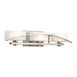 Kichler Lighting - Kichler Lighting 45317NI Suspension Brushed Nickel 3 Light Vanity - 3, 60W Candelabra
