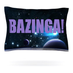 """Kess InHouse - KESS Original """"Bazinga Purple"""" Space Pillow Sham (Cotton, 30"""" x 20"""") - Pairing your already chic duvet cover with playful pillow shams is the perfect way to tie your bedroom together. There are endless possibilities to feed your artistic palette with these imaginative pillow shams. It will looks so elegant you won't want ruin the masterpiece you have created when you go to bed. Not only are these pillow shams nice to look at they are also made from a high quality cotton blend. They are so soft that they will elevate your sleep up to level that is beyond Cloud 9. We always print our goods with the highest quality printing process in order to maintain the integrity of the art that you are adeptly displaying. This means that you won't have to worry about your art fading or your sham loosing it's freshness."""