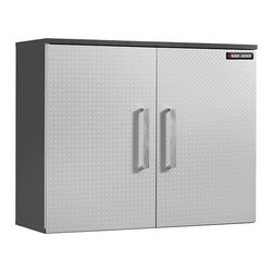 Black & Decker - Black & Decker Garage and Workshop Wall Cabinet - Keep your garage and workshop tools and equipment organized and safe with this large metal workshop cabinet. A chrome hardwood finish gives this cabinet a durable surface. It includes a fixed shelf and an adjustable shelf. Assembly is required.