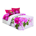Le Vele - Le Vele - Vera, Duvet Cover Sheet Set Bed in a Box, Full/Queen Beddding LE257Q - Decorate your bedroom like never before with this modern and artistic design from Le Vele featuring large vivid floral prints.
