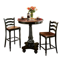 Hooker Furniture - Hooker Furniture Indigo Creek Pub Table in Rub-Through Black - Hooker Furniture - Pub Tables - 33275202