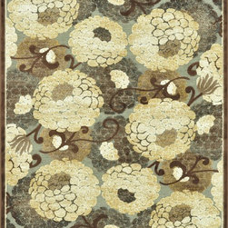 Loloi Rugs - Loloi Rugs HALTHL-01GYBE3A0R Halton Gray-Beige Transitional Rug - The colors are vivid and the transitional designs are appealing, but what really stands out in Halton is the details. Take a closer look (or zoom in) and you'll notice Halton was expertly designed with subtle shadings and intricate patterns to give it the appearance of a hand-crafted rug. Power loomed in Turkey, the viscose surface is raised against a chenille base, giving Halton an element of dimension and texture that adds character and enhances perceived value. Also, the viscose surface has an irresistible shimmer, which further adds to its sophisticated appearance.