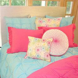 Davenport - Turquoise Pin-Tuck Duvet Cover - Turquoise Pin Tuck Duvet Cover