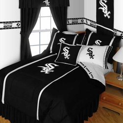 "MLB Chicago White Sox Bedding and Room Decorations - Whether game day or a regular night's sleep, make your room shout ""A true Chicago White Sox fan lives and sleeps here!"" We have a wide range of bedding and room decor products that will make quite an impression. Click the link below to view all items available for purchase."