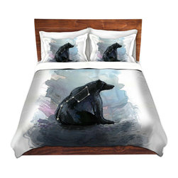 DiaNoche Designs - Duvet Cover Microfiber by Aja-Ann - Ursa Major - DiaNoche Designs works with artists from around the world to bring unique, artistic products to decorate all aspects of your home.  Super lightweight and extremely soft Premium Microfiber Duvet Cover (only) in sizes Twin, Queen, King.  Shams NOT included.  This duvet is designed to wash upon arrival for maximum softness.   Each duvet starts by looming the fabric and cutting to the size ordered.  The Image is printed and your Duvet Cover is meticulously sewn together with ties in each corner and a hidden zip closure.  All in the USA!!  Poly microfiber top and underside.  Dye Sublimation printing permanently adheres the ink to the material for long life and durability.  Machine Washable cold with light detergent and dry on low.  Product may vary slightly from image.  Shams not included.