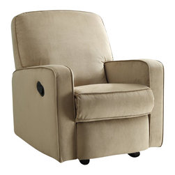 PRI - PRI Sutton Swivel Glider Recliner Stella Straw - PRI - Gliders & Rockers - DS912006051 -   Our recliners offer outstanding comfort and styling. Soft easy to clean fabric cover is over a solid plywood frame for durability. Padded backs arms and sides make our recliners a step above the rest. Lever recline mechanism is attached to an all metal reclining mechanism that is smooth and easy to operate. Features: