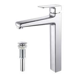 Kraus - Kraus KEF-15500-PU10CH Virtus Single Lever Vessel Faucet - At Kraus, we use various elements of design to impress and make a statement in order to turn your private space into a truly unique one