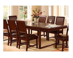 Standard Furniture - Park Avenue Trestle Dining Table Seats Up to - Cast metal ring pulls in a brushed nickel finish. Quality wood products bonded together throughout enhance durability. Rich chocolate brown finish. Trestle table can seat up to eight guests comfortably. Chairs not included. 42 in. W x 102 in. L x 30 in. H