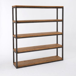 Copenhagen Bookcase - Open shelving is perfect for stacks of books, magazines and personal objects. This belongs in a big farmhouse with high ceilings.