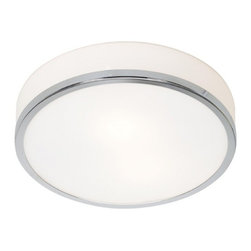 Access Lighting - Modern Flushmount Light with White Glass in Chrome Finish - 20670-CH/OPL - Access Lighting produces luminaries that are simple in design but are functional, beautiful, and top-quality. The same trademarks can be attributed to this contemporary flushmount light too, which is a part of Access� Aero Collection. It will enhance your home with a perfect mix of form and function. The flushmount features a dome glass shade and steel framing in chrome finish around the bottom edge. It comes with dimensions of 10-inch wide by 4-inch high. Takes (1) 75-watt incandescent A19 bulb(s). Bulb(s) sold separately. Damp location rated.