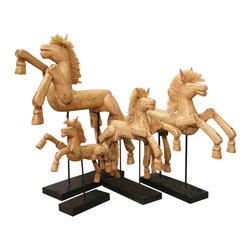 Groovystuff - Groovystuff Hinged Horse on Stand - S in Asian Mahogany - Features:
