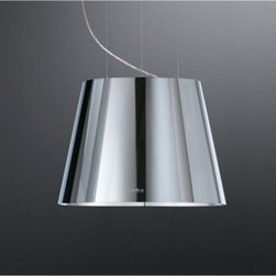 """Elica - EPL320SS Platinum 20"""" Polished Island Range Hood with 350 CFM Internal Blower  H - As light shines gleaming metal sparkles into life and the world around is mirrored in its surface Colors and images amplify and change performing a fascinating dance that transforms a simple object into a brilliant kaleidoscope"""