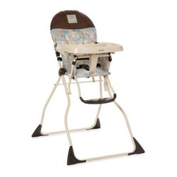 Dorel Juvenile Group - Cosco Slim Fold High Chair in Kontiki - Feed your baby at the table with the easy-to-clean Cosco Slim Fold high chair. Designed by Dorel Juvenile Group, this quality high chair safely secures children between six and 24 months old weighing up to 50 lbs.